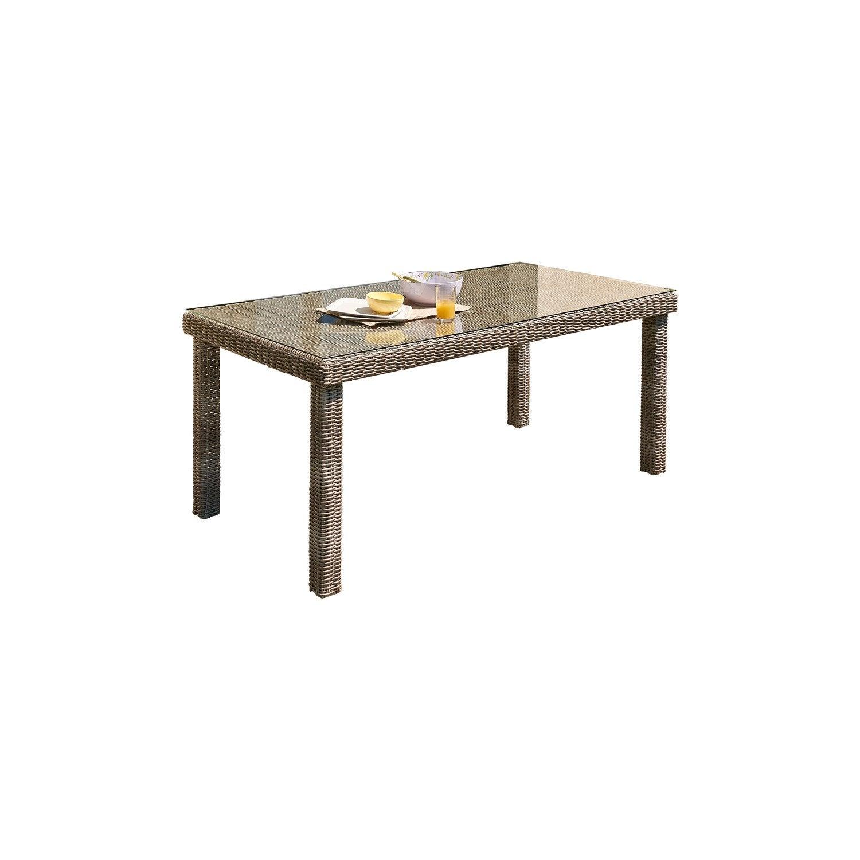 Table de jardin elegance rectangulaire gris 6 personnes for Table midland 6 personnes