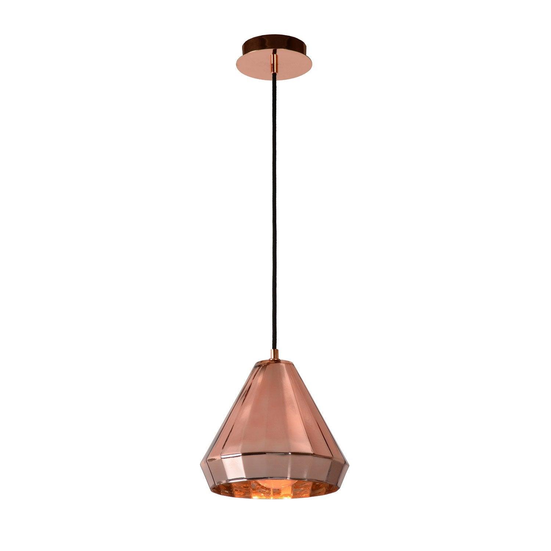 suspension e27 lyna m tal cuivr 1 x 40 w lucide leroy merlin. Black Bedroom Furniture Sets. Home Design Ideas