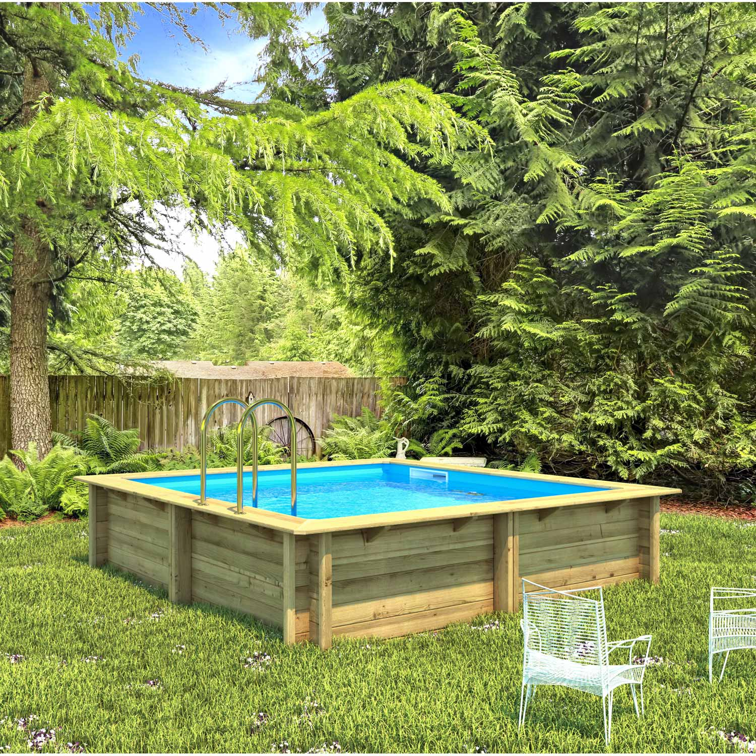 Piscine en bois semi enterre leroy merlin piscine semi enterree rennes with piscine en bois - Piscine gonflable leroy merlin ...