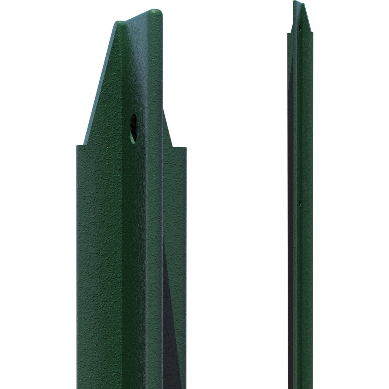 piquet plastifie vert 1m75 30x30x3 leroy merlin