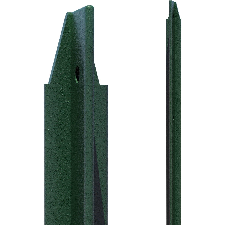 Piquet plastifie vert 1m75 30x30x3 leroy merlin - Piquet cloture fer ...