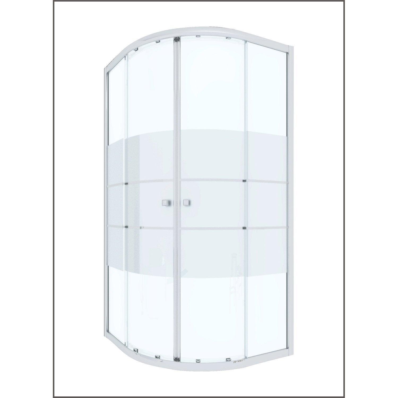 Porte de douche coulissante angle 1 4 de cercle 90 x 90 cm s rigraphi da - Porte de douche coulissante 90 cm ...