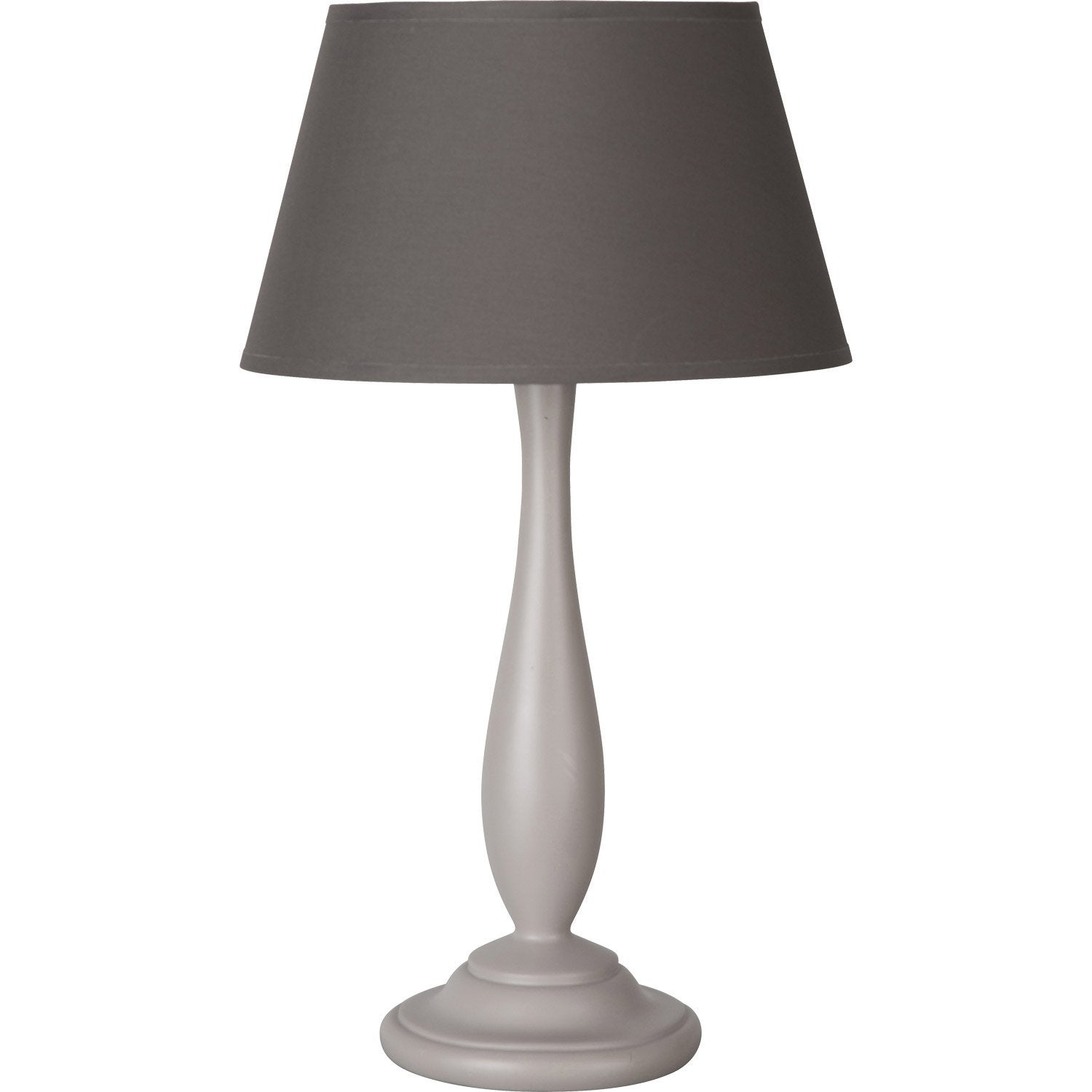 lampe lea corep coton taupe 60 w leroy merlin. Black Bedroom Furniture Sets. Home Design Ideas