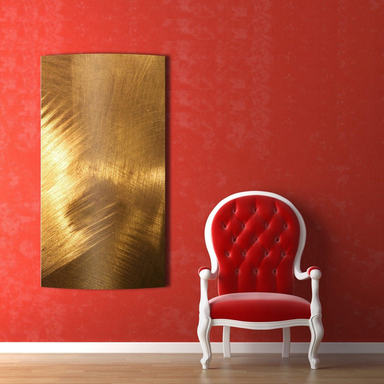 Radiateur lectrique rayonnement arteo classique cuivre bross 750w leroy - Brosse radiateur leroy merlin ...