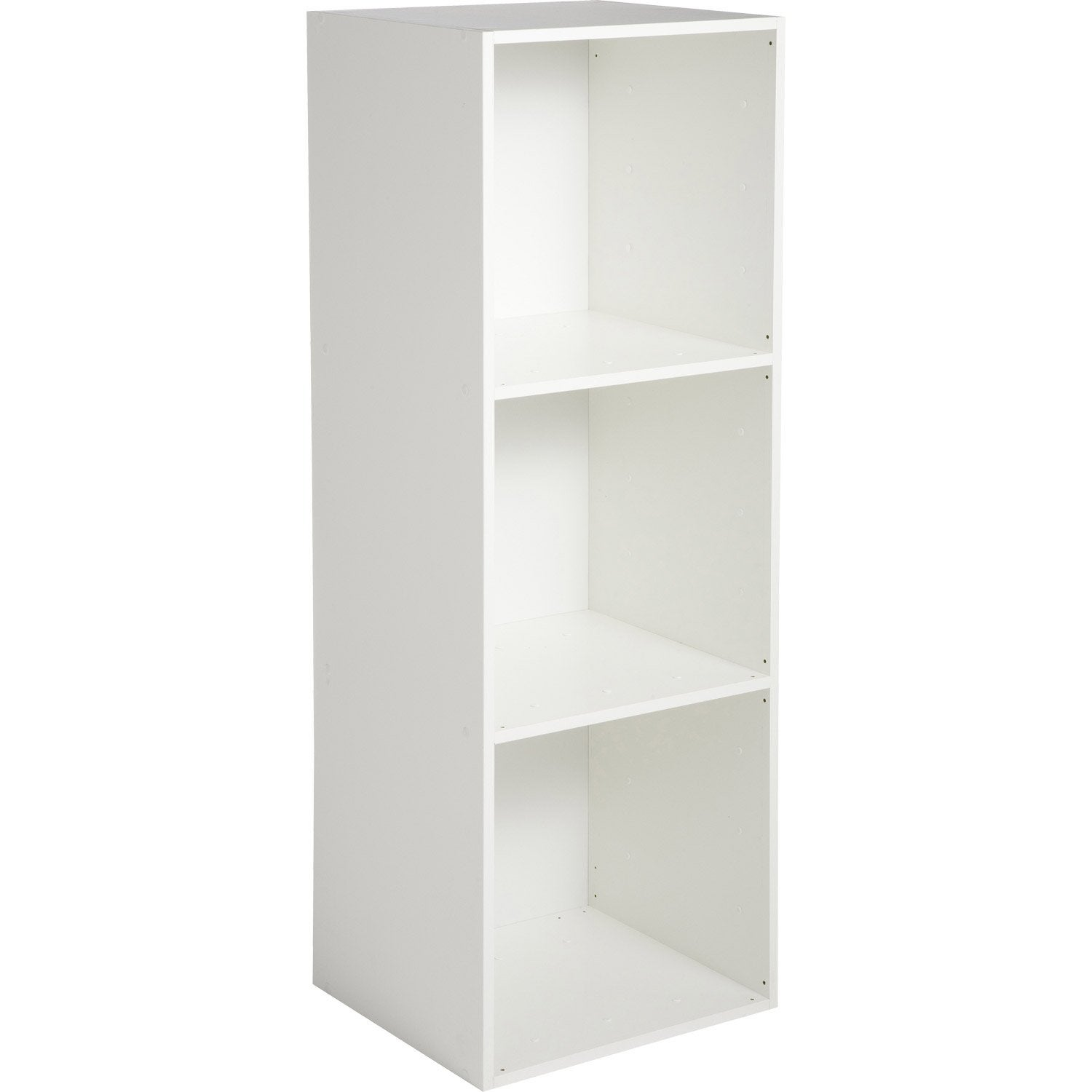 Etag re 3 cases multikaz blanche l35 2 x h103 2 x p31 7 cm leroy merlin for Etageres ceramiques blanche