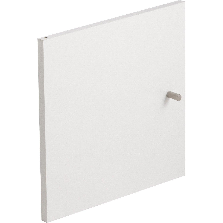 Porte multikaz blanc x x p 1 5 cm leroy merlin - Cube rangement leroy merlin ...