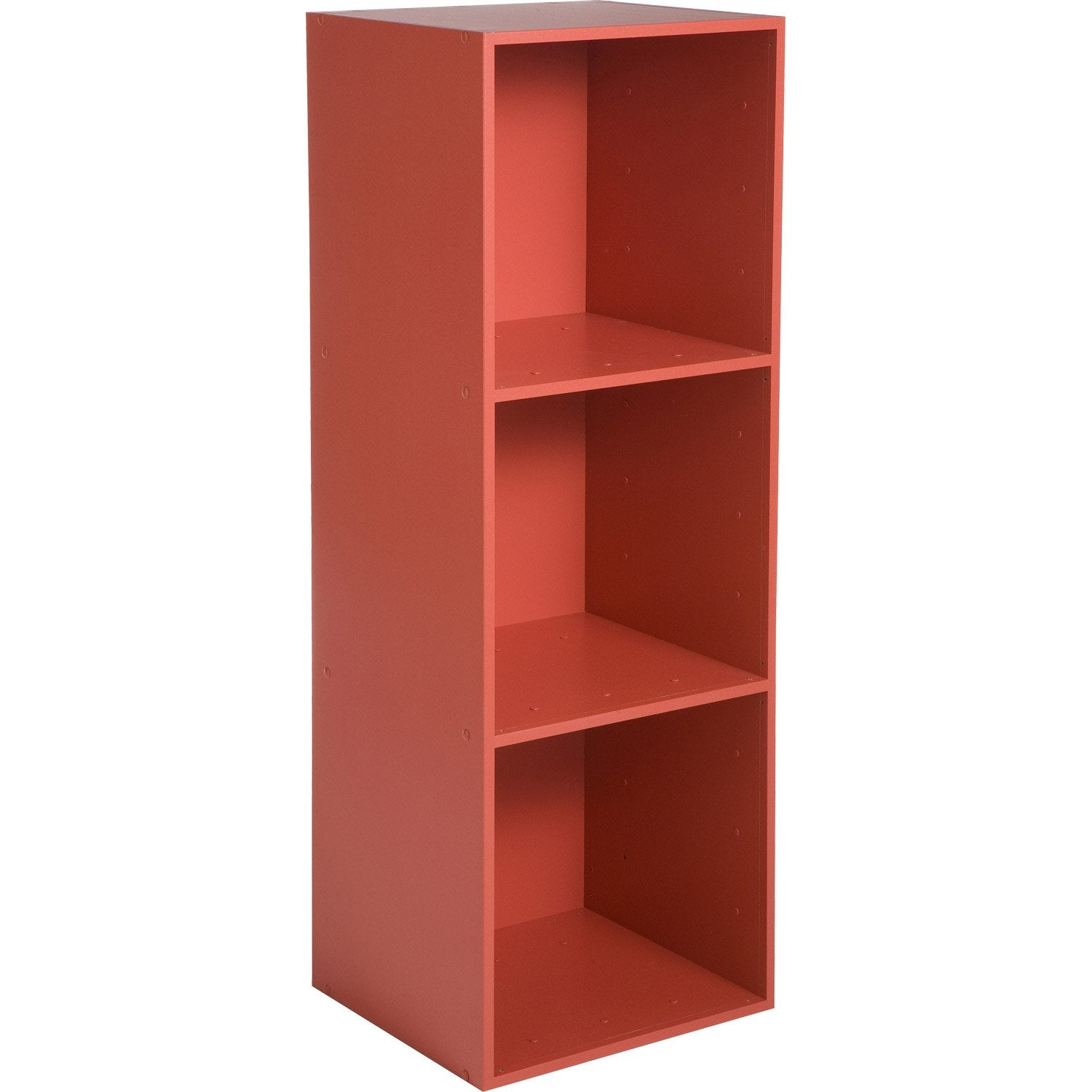 Etag re 3 cases multikaz rouge x x for Etagere niche murale