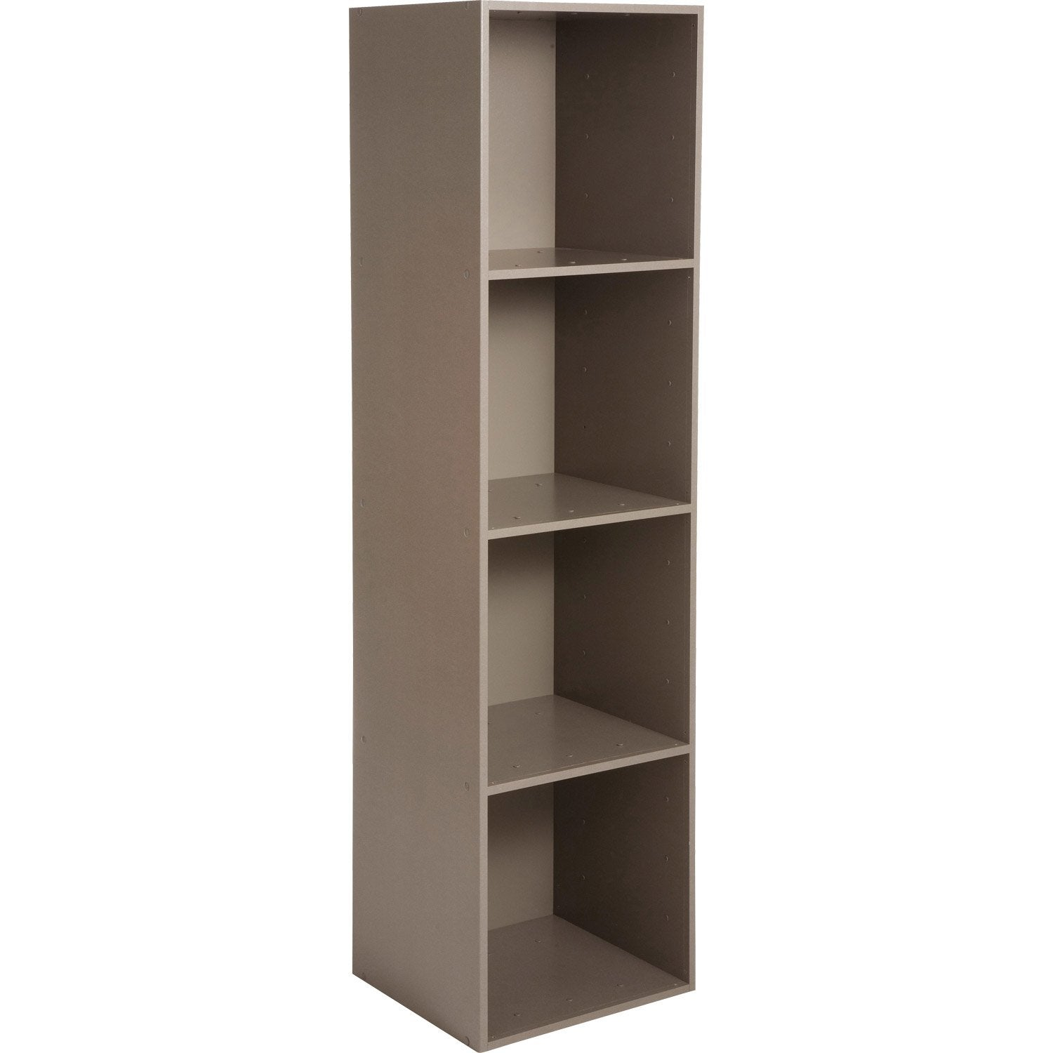Etag re 4 cases multikaz taupe l35 2 x h137 2 x p31 7 cm leroy merlin - Etagere murale casier ...