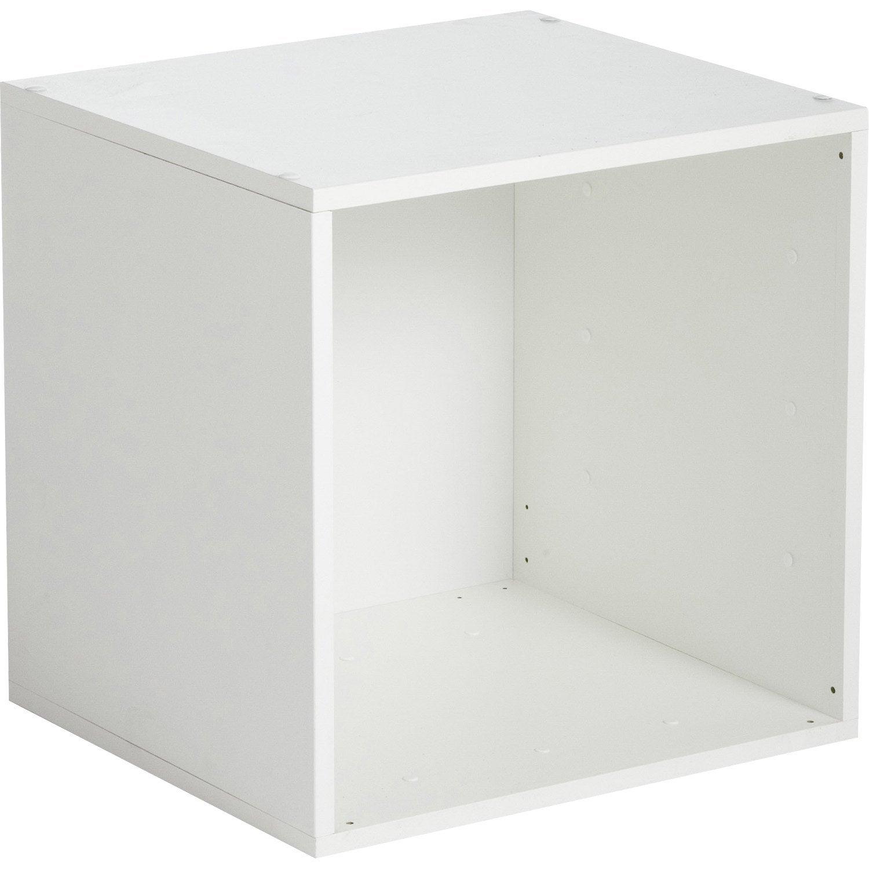 Etagère 1 case MULTIKAZ, blanc H.35.2 x l.35.2 x P.31.7 cm | Leroy Merlin