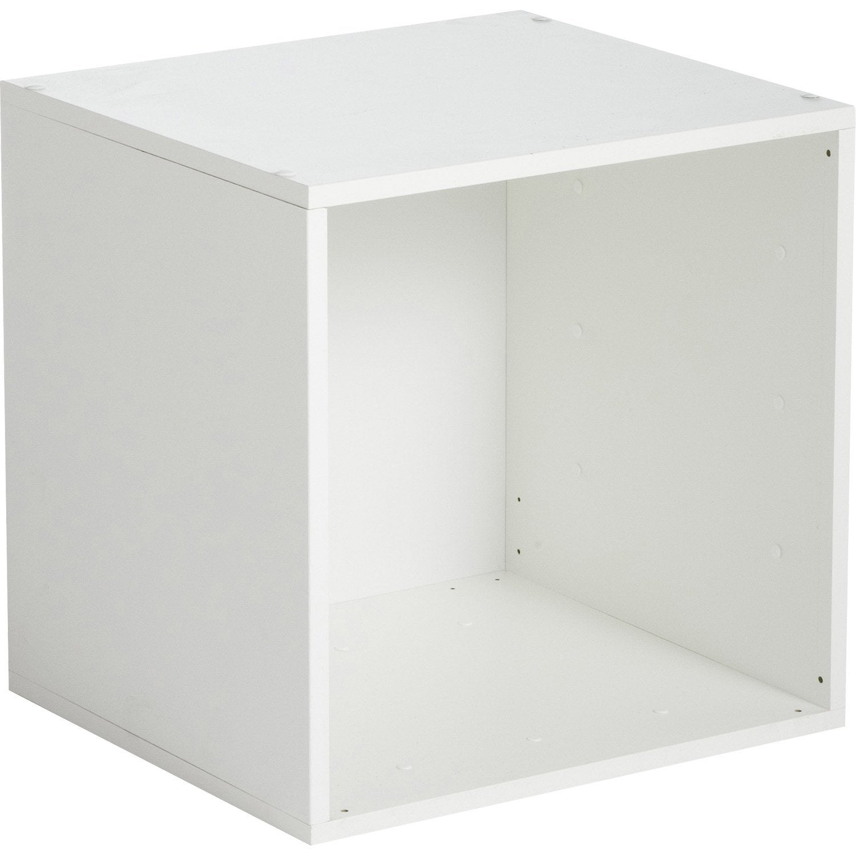 etagre 1 case multikaz blanc h352 x l352 x p - Table De Chevet Leroy Merlin