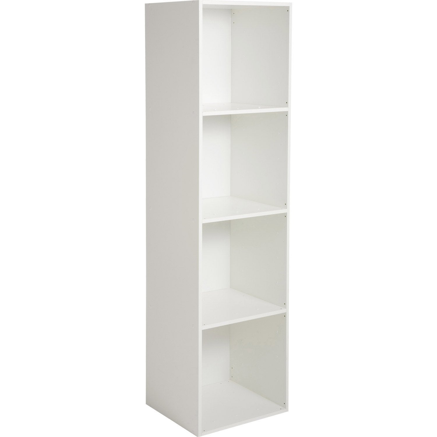 Etag re 4 cases multikaz blanc x x for Meuble etagere pas cher