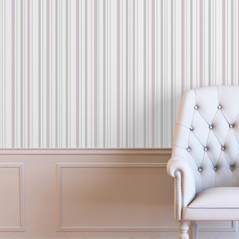 papier peint intiss verlaine rose leroy merlin. Black Bedroom Furniture Sets. Home Design Ideas