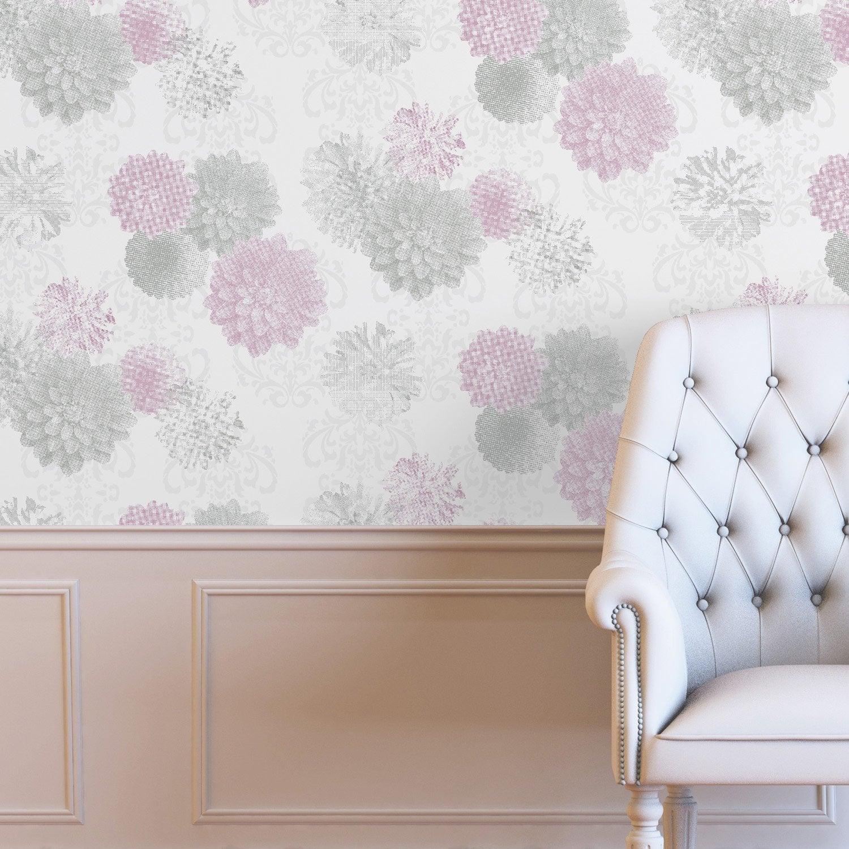 papier peint intiss rimbaud rose leroy merlin. Black Bedroom Furniture Sets. Home Design Ideas