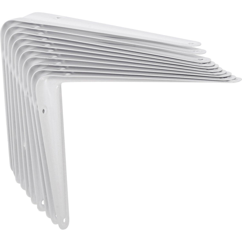 Lot de 10 querres utilitaires emboutie en acier blanc 15 x 20 cm leroy merlin for Produit anti punaise de lit leroy merlin