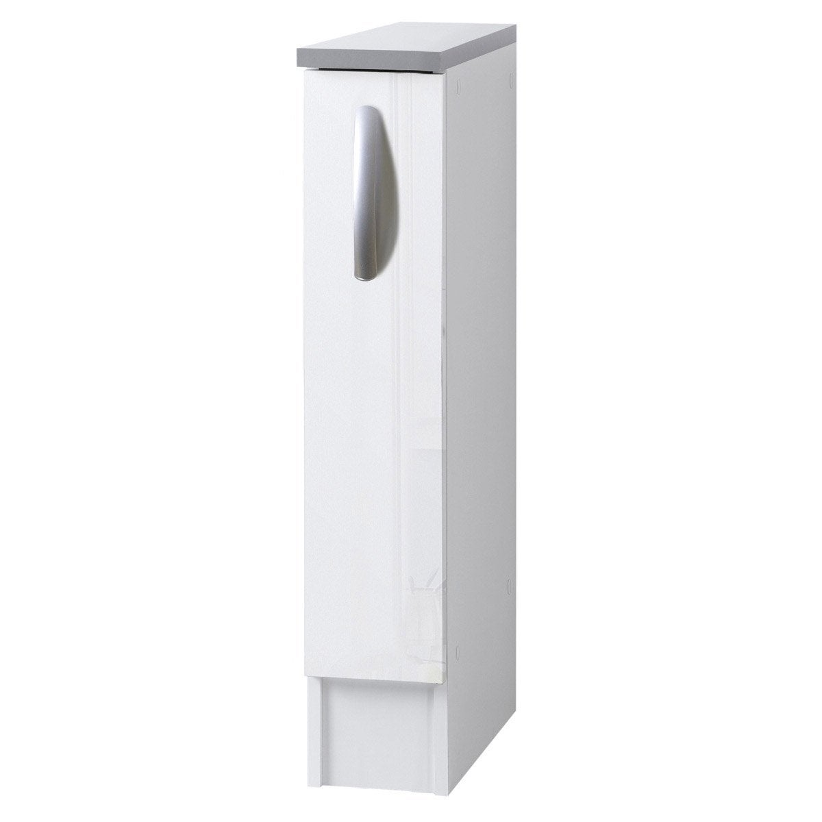 Meuble de cuisine bas 1 porte blanc brillant h86x l15x for Porte 60 cm de large