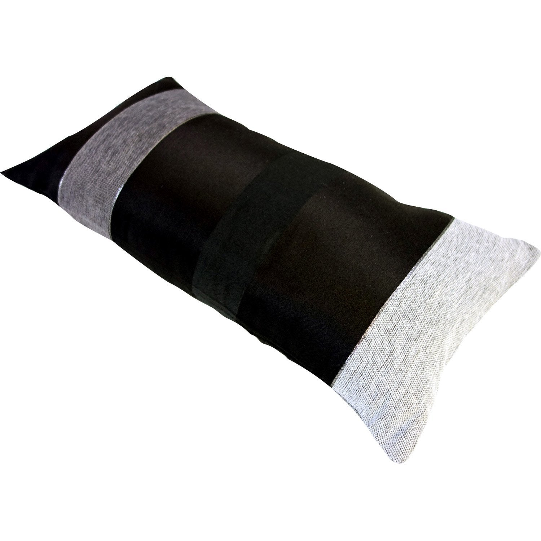 Coussin edimbourg noir et gris x cm leroy merlin - Coussin leroy merlin ...