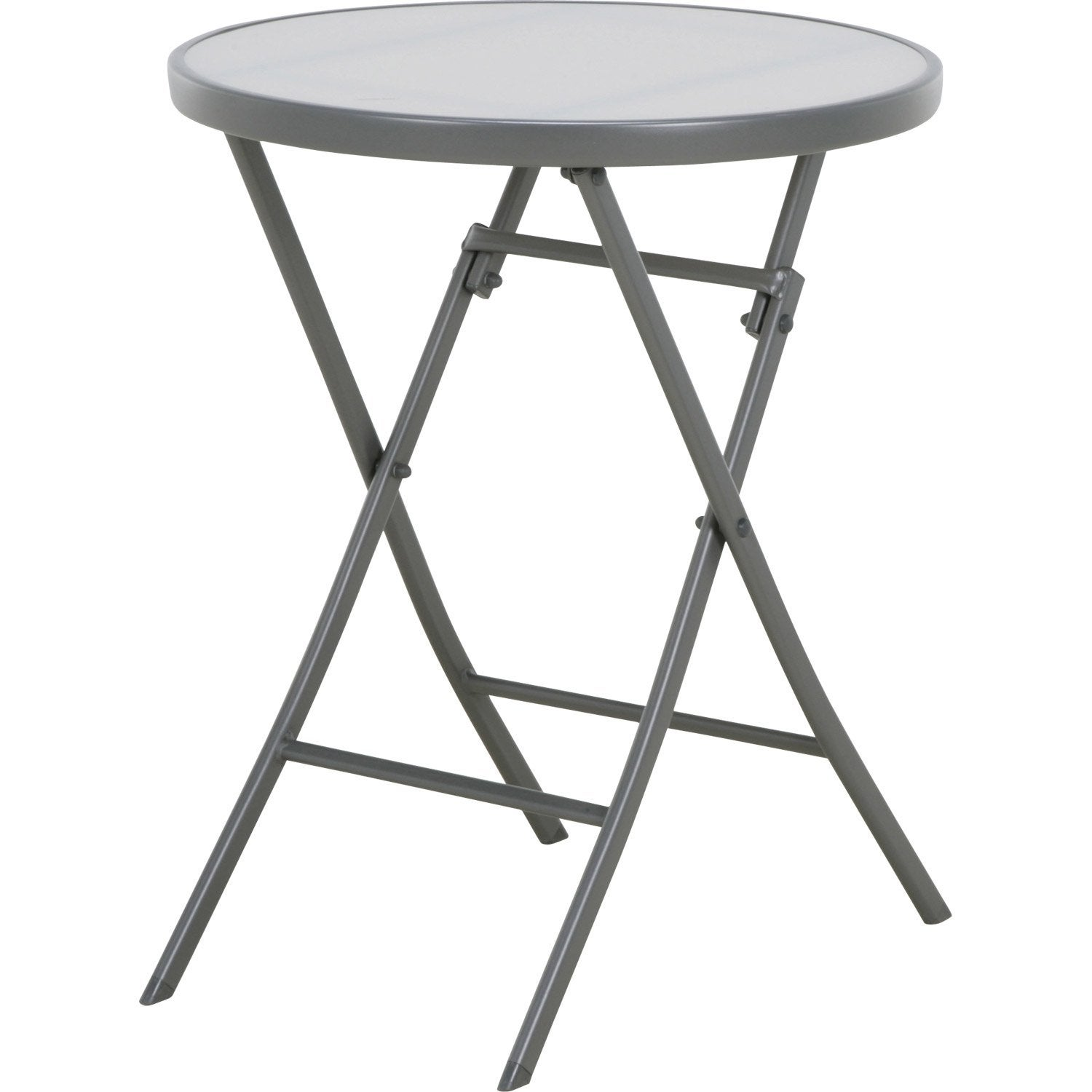 Table de jardin naterial denver ronde gris 2 personnes - Table ronde grise ...