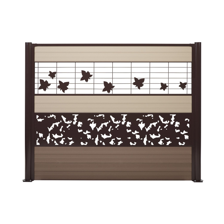 cl ture composer acier dirickx lookx brun leroy merlin. Black Bedroom Furniture Sets. Home Design Ideas
