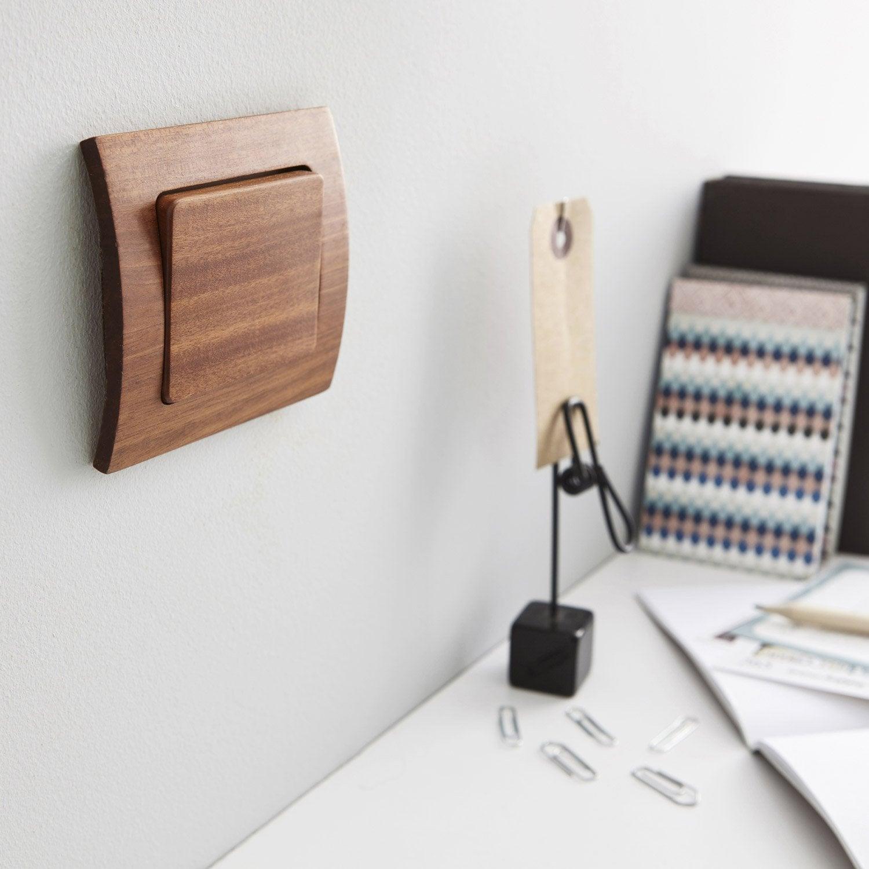 interrupteurs et prises modul design s rie alisia marron. Black Bedroom Furniture Sets. Home Design Ideas