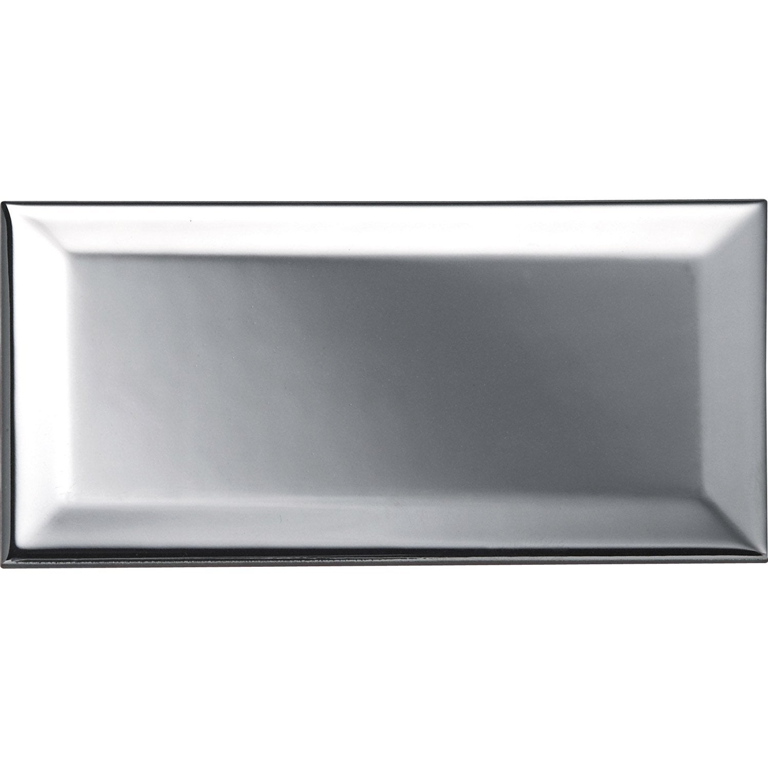 Carreau m tro argent l 7 5 x cm leroy merlin for Carrelage metro argent