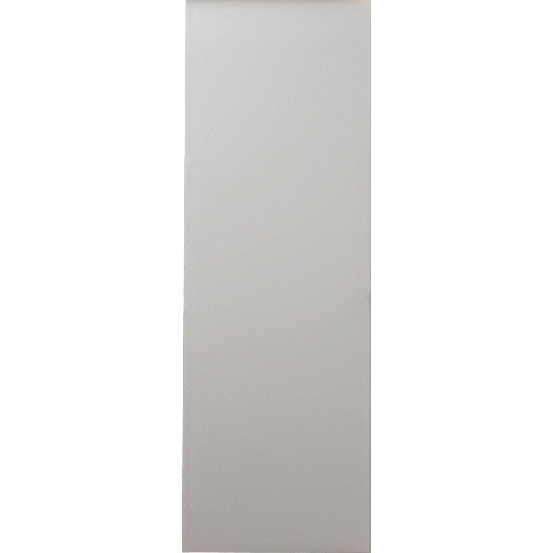 porte coulissante isoplane pr peinte blanc 204 x 73 cm leroy merlin. Black Bedroom Furniture Sets. Home Design Ideas