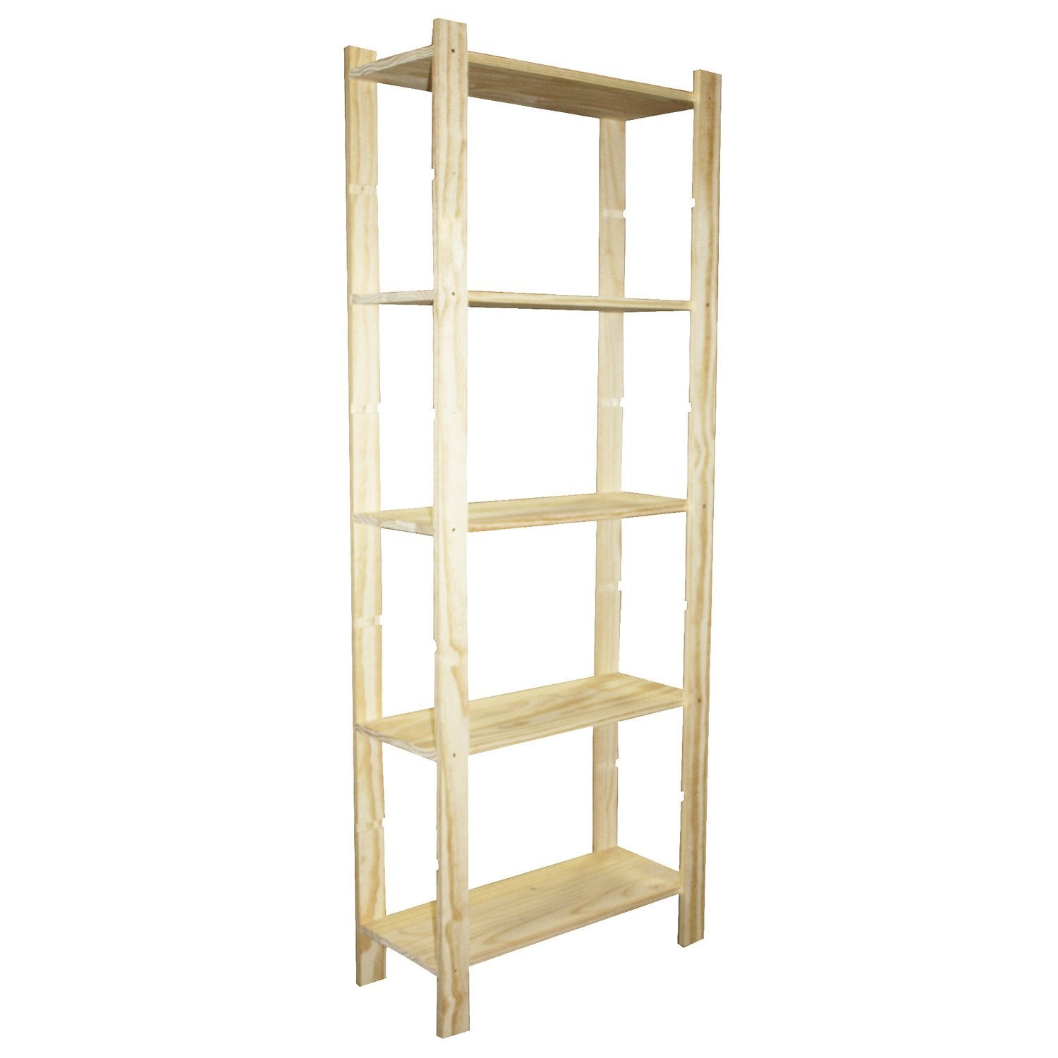 Etag re pin 5 tablettes x x cm leroy - Etagere modulable leroy merlin ...