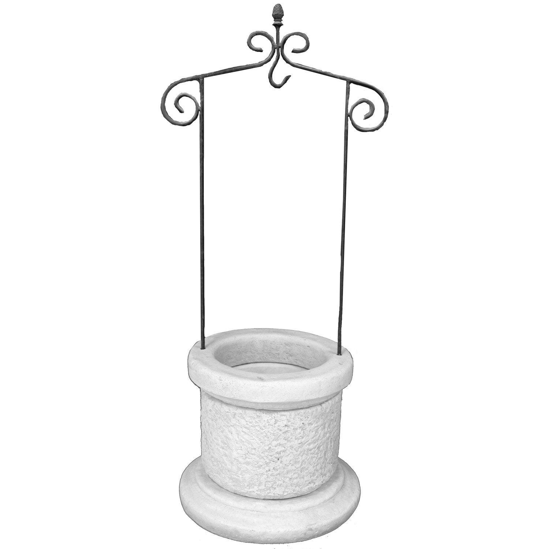 puits en pierre reconstitu e pierre vieillie medieval leroy merlin. Black Bedroom Furniture Sets. Home Design Ideas