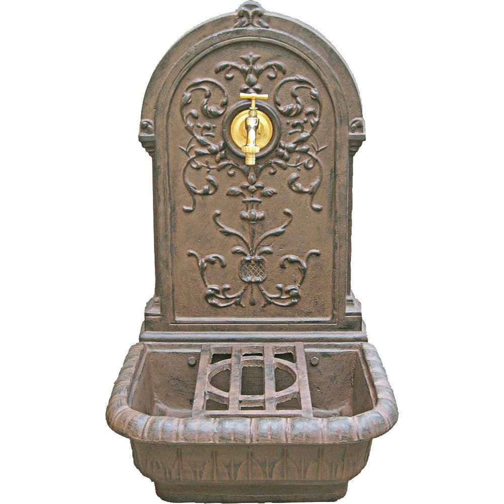 Fontaine en fonte rouille renaissance leroy merlin for Pompe fontaine exterieur