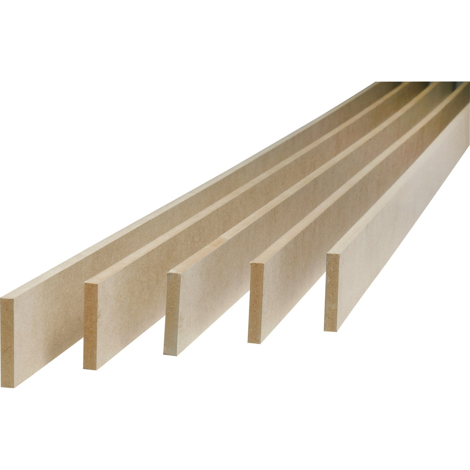 Lot de 5 plinthes m dium mdf r versibles 9 x 100 mm l - Plinthe bois sur carrelage ...