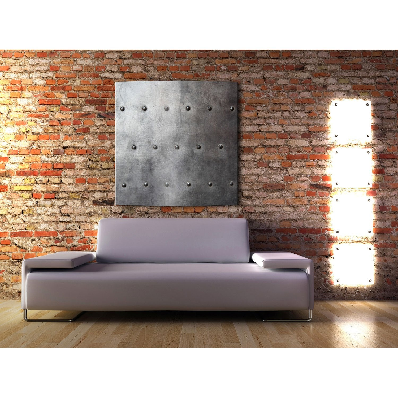 radiateur lectrique rayonnement arteo carr acier rivet 1100w leroy merlin. Black Bedroom Furniture Sets. Home Design Ideas