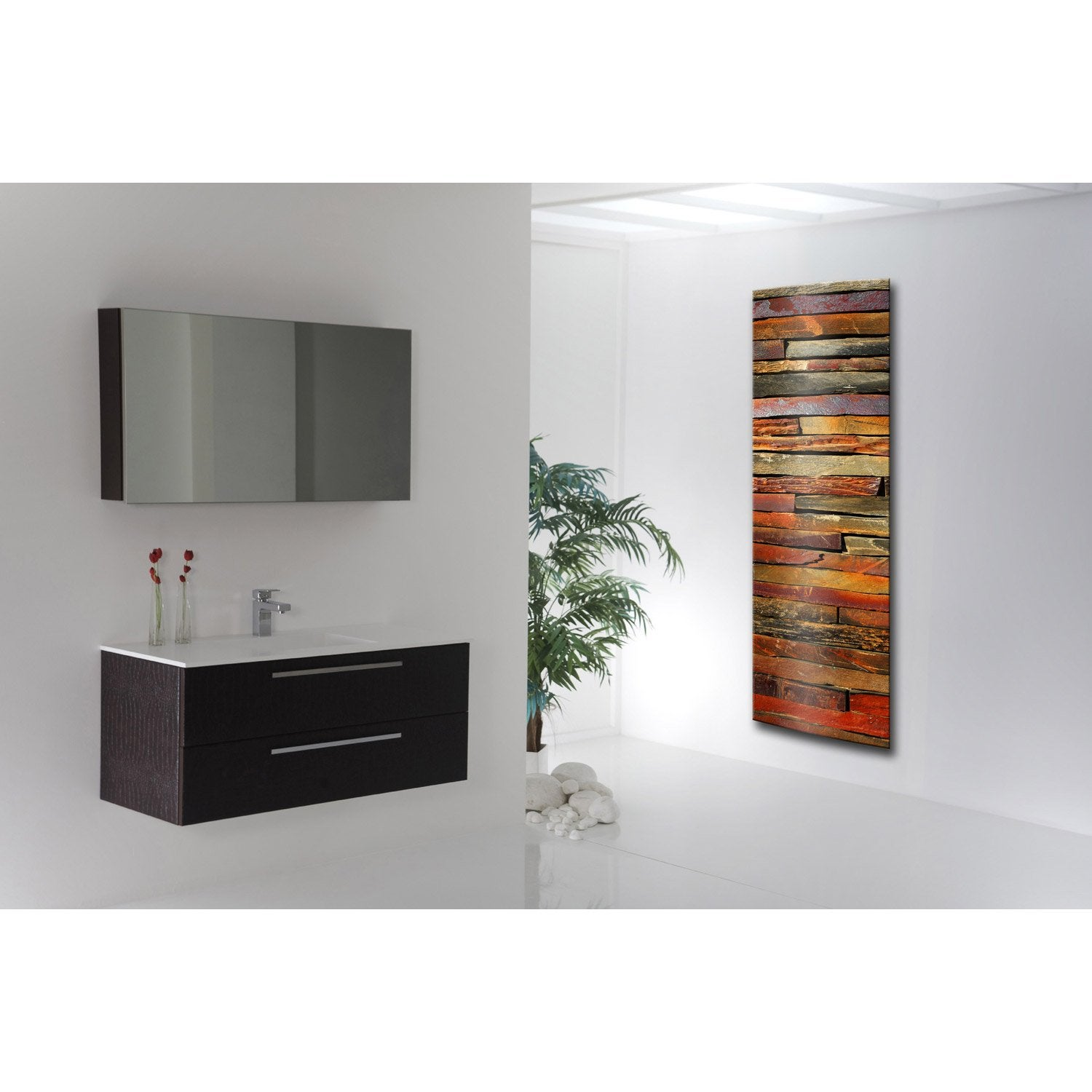 radiateur lectrique rayonnement arteo vertical pierres color es 1000w le. Black Bedroom Furniture Sets. Home Design Ideas