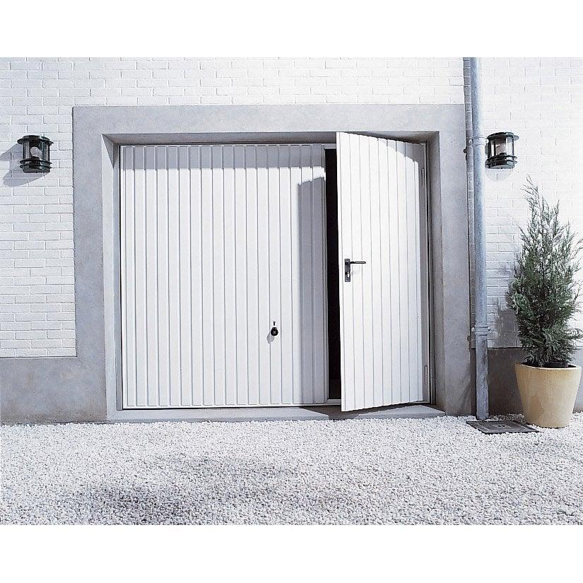 Porte de garage basculante manuelle x cm - Porte interieure leroy merlin ...