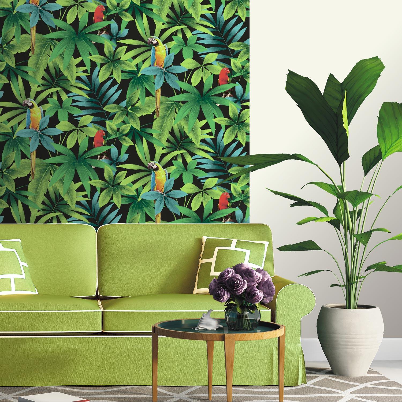 Papier peint papier perroquet vert leroy merlin - Leroy merlin tapisserie ...