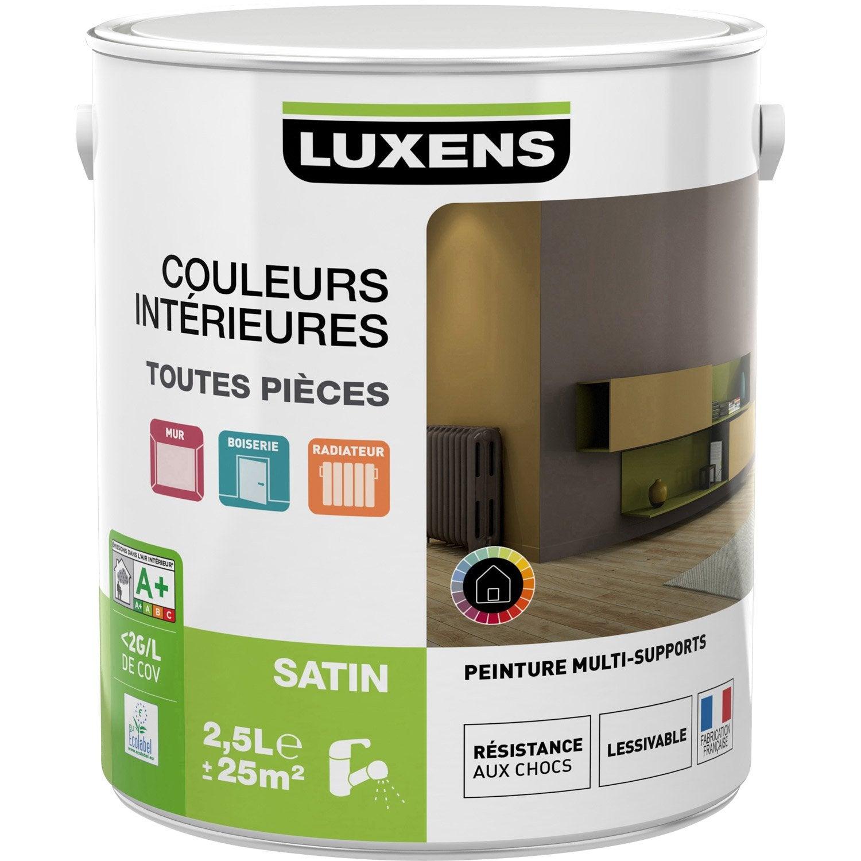 peinture couleurs int rieures satin luxens blanc calcaire n 3 2 5 l leroy merlin. Black Bedroom Furniture Sets. Home Design Ideas