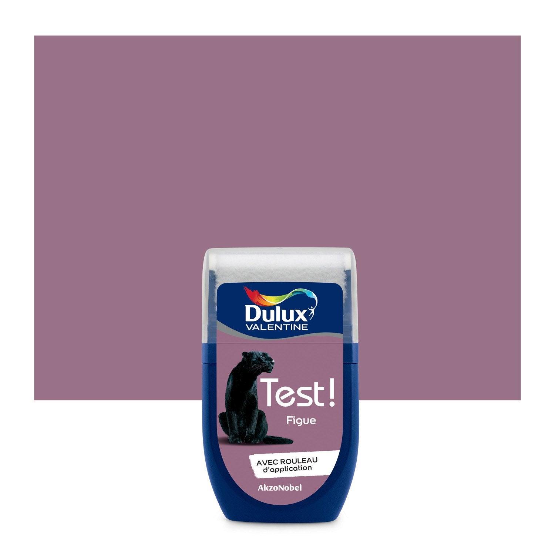 Testeur peinture violet figue dulux valentine cr me de couleur l leroy merlin for Peinture couleur figue