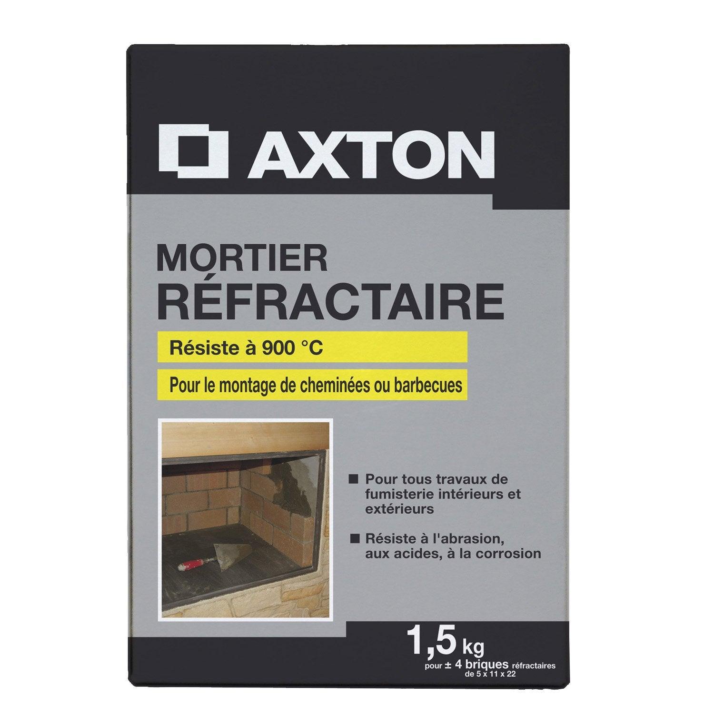 Mortier r fractaire axton 1 5 kg leroy merlin for Mortier epoxy leroy merlin
