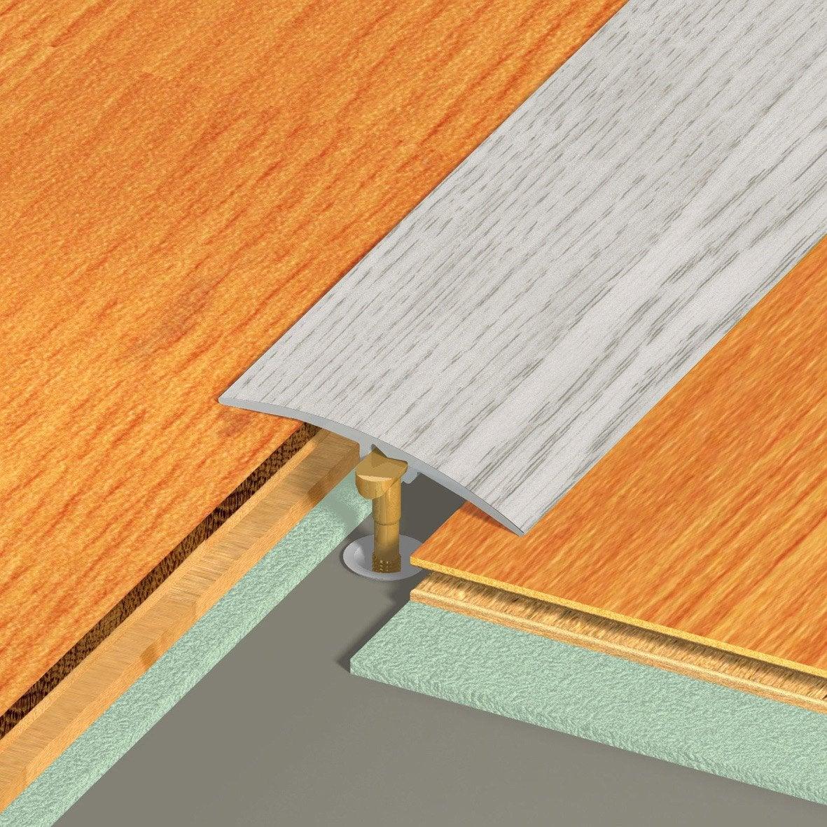Barre de seuil aluminium rev tu d co d cor ch ne x l 4 1 cm leroy merlin - Barre de seuil rattrapage de niveau ...