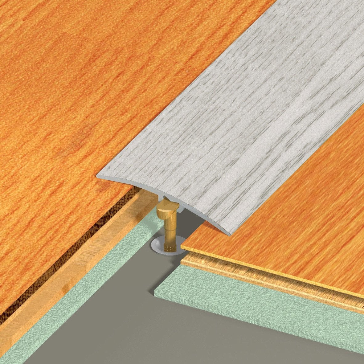 Barre de seuil multi niveaux dinac d cor ch ne 4 1 x 270 - Barre de seuil bois ...
