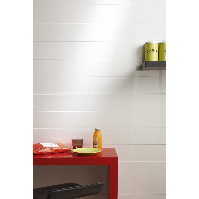 lambris pvc blanc artens x cm x mm. Black Bedroom Furniture Sets. Home Design Ideas