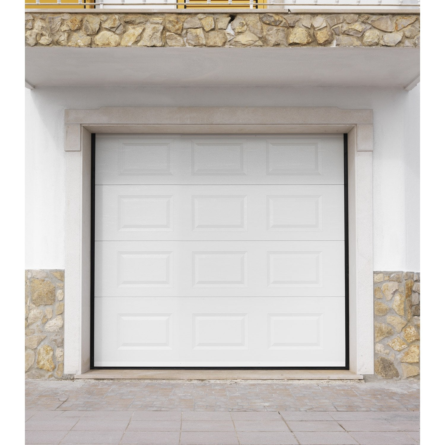 porte de garage sectionnelle artens h200 x l240 cm With porte garage artens