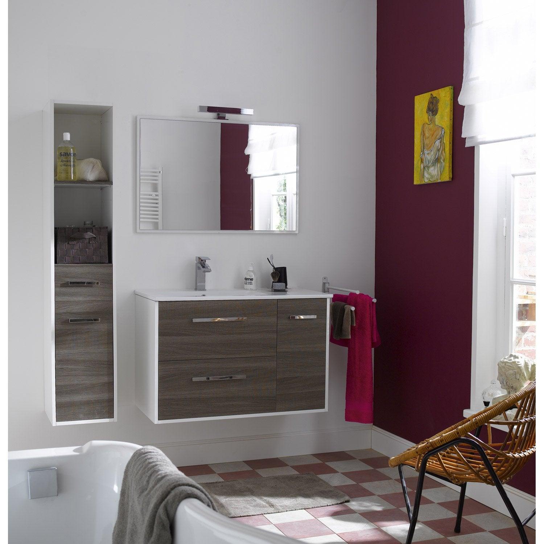 Les concepteurs artistiques promotion meuble salle de for Meuble salle de bain leroymerlin