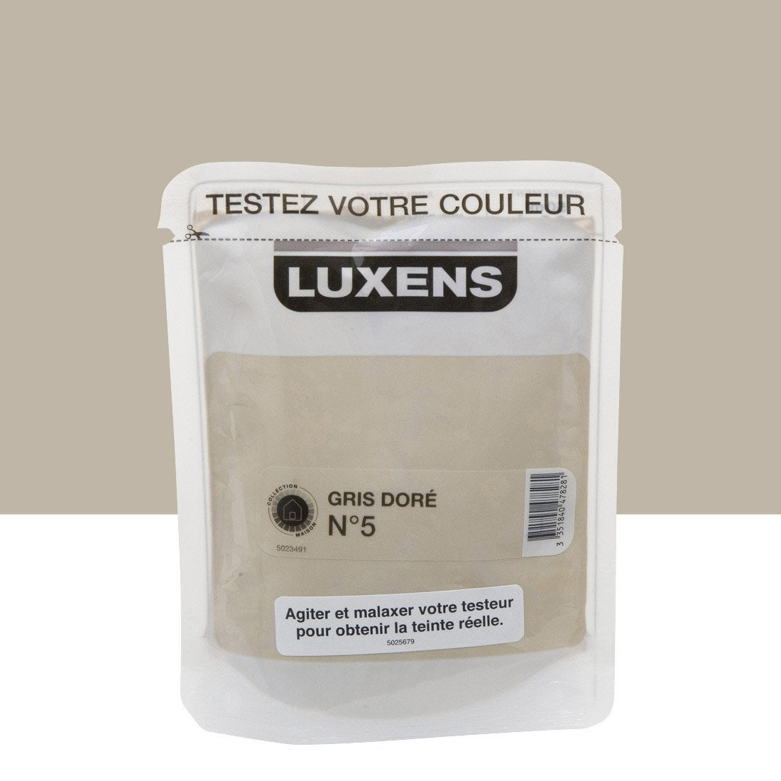Testeur peinture gris dor 5 luxens couleurs int rieures - Peinture grise leroy merlin ...