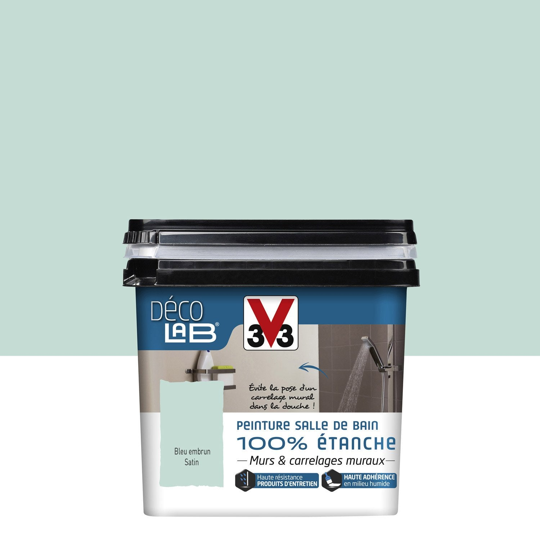 Peinture d colab 100 tanche v33 bleu embrun l - Peinture bleu petrole leroy merlin ...