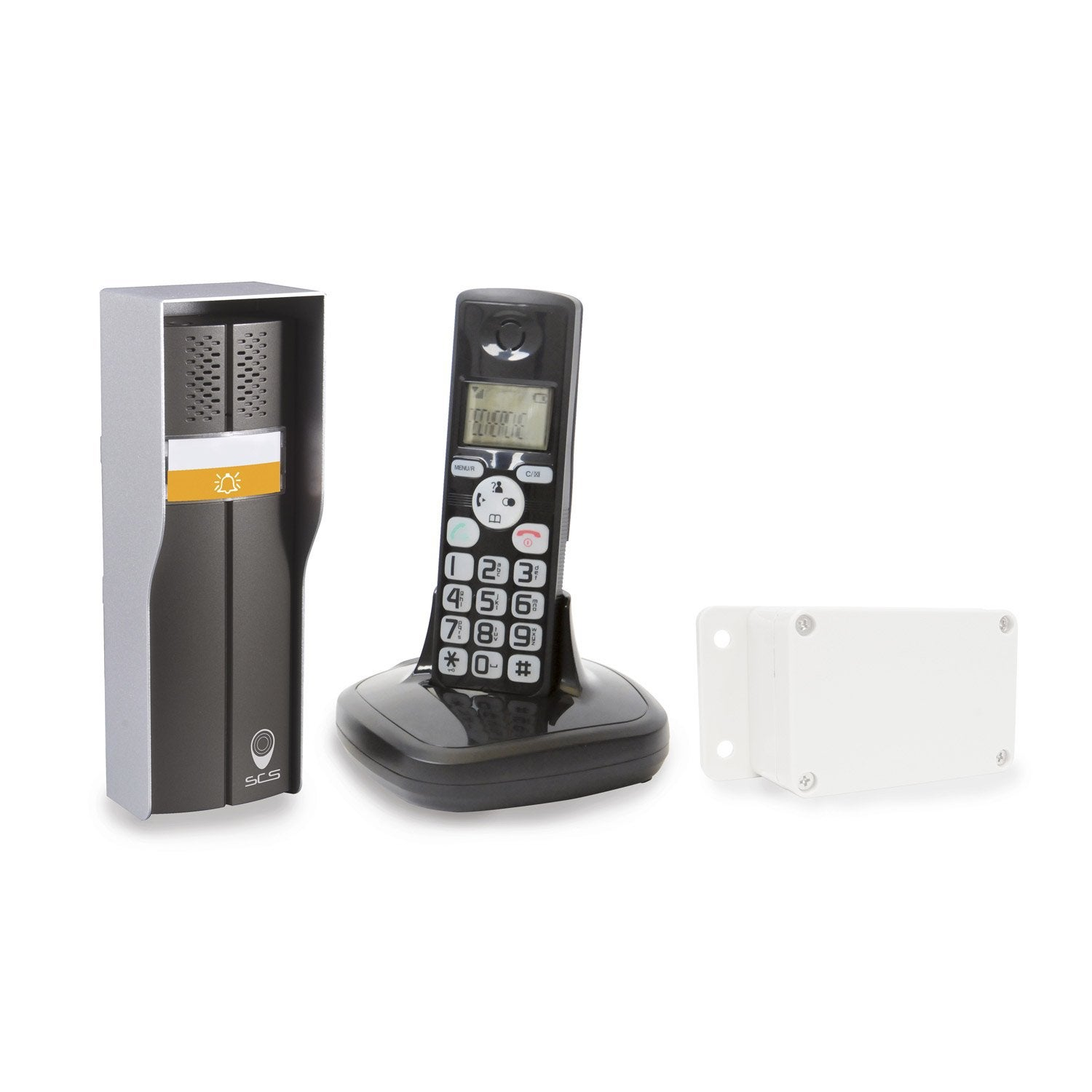 interphone sans fil scs sentinel et t l phone duophone 150 leroy merlin. Black Bedroom Furniture Sets. Home Design Ideas