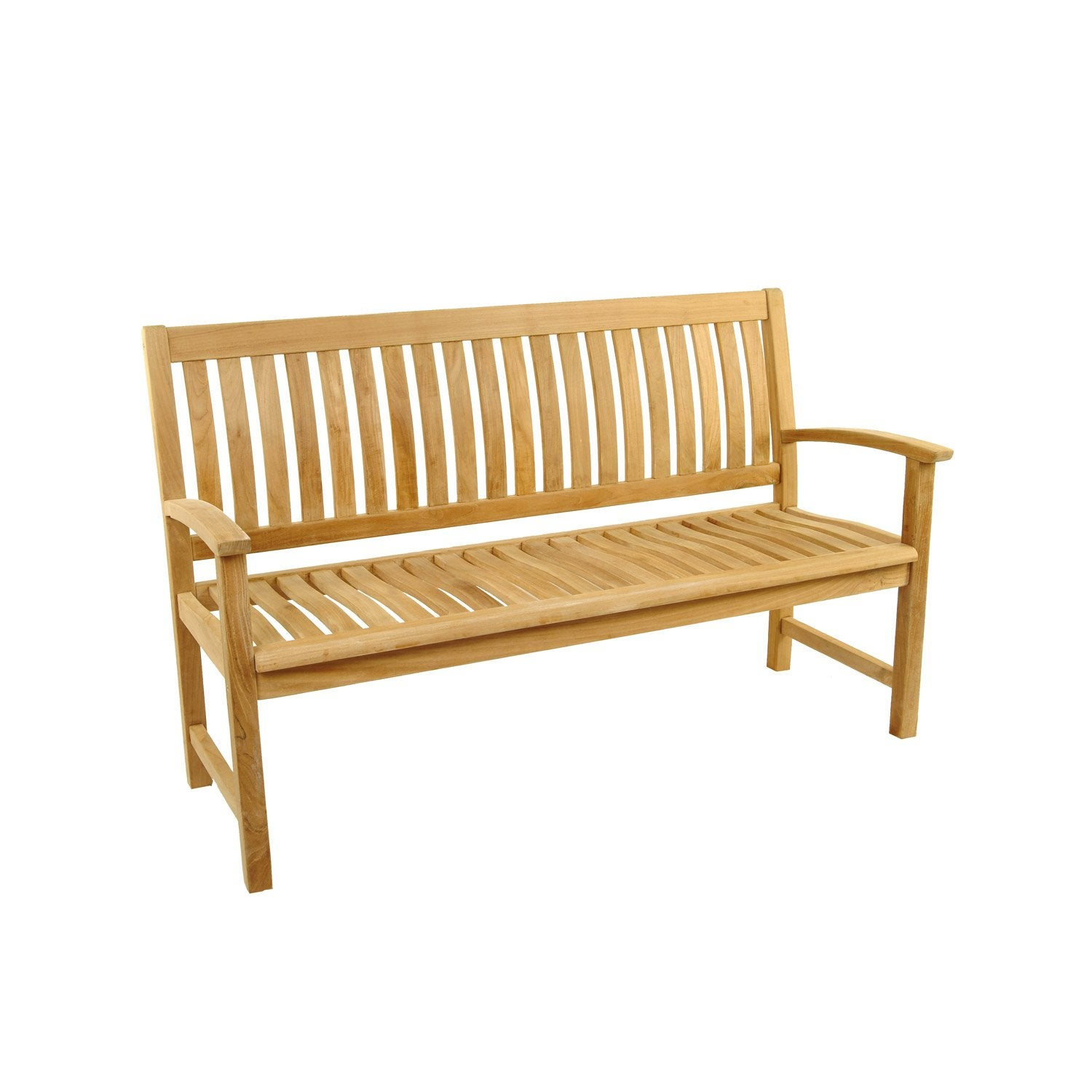 Banc 3 places de jardin en bois azur naturelle leroy merlin for Banco jardin leroy merlin