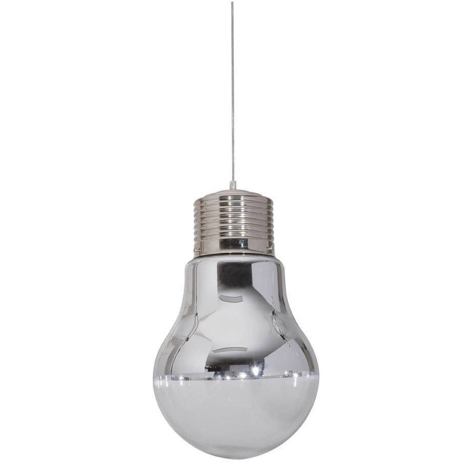 Suspension pop ampoule verre blanc 1 x 60 w corep leroy - Suspension industrielle leroy merlin ...