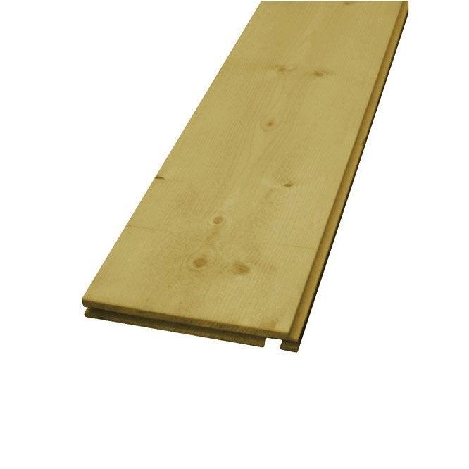 Planche de rive en sapin epic a 22x220 mm long 4 m leroy merlin - Leroy merlin planche bois ...