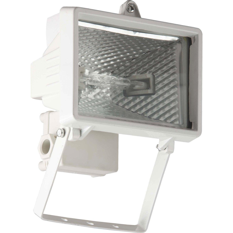 Projecteur fixer ext rieur tanko r7s 118mm blanc for Halogene exterieur