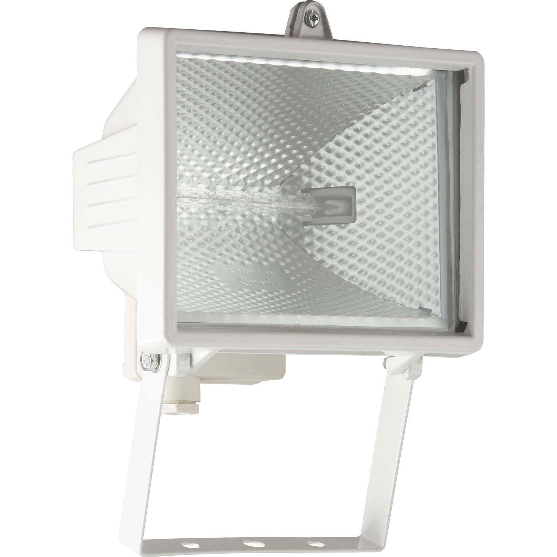 projecteur 224 fixer ext 233 rieur tanko r7s 118 mm blanc leroy merlin