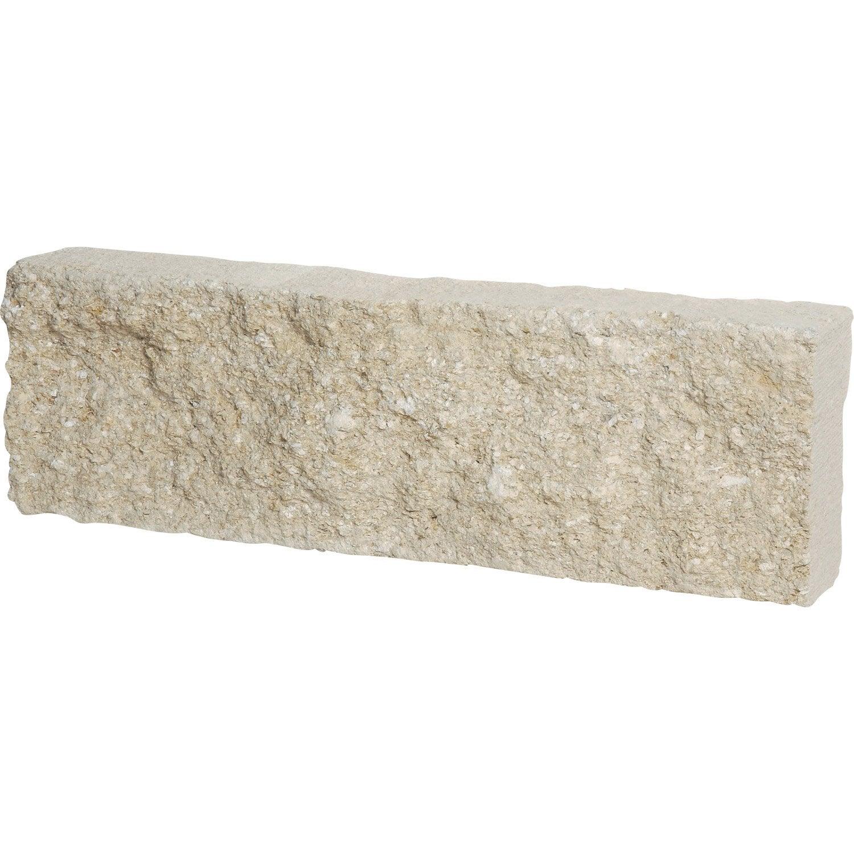 bordure droite pierre de provence pierre reconstitu e blanc x cm leroy merlin. Black Bedroom Furniture Sets. Home Design Ideas